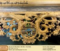 sập mai điểu gỗ gụ mật Quảng Bình